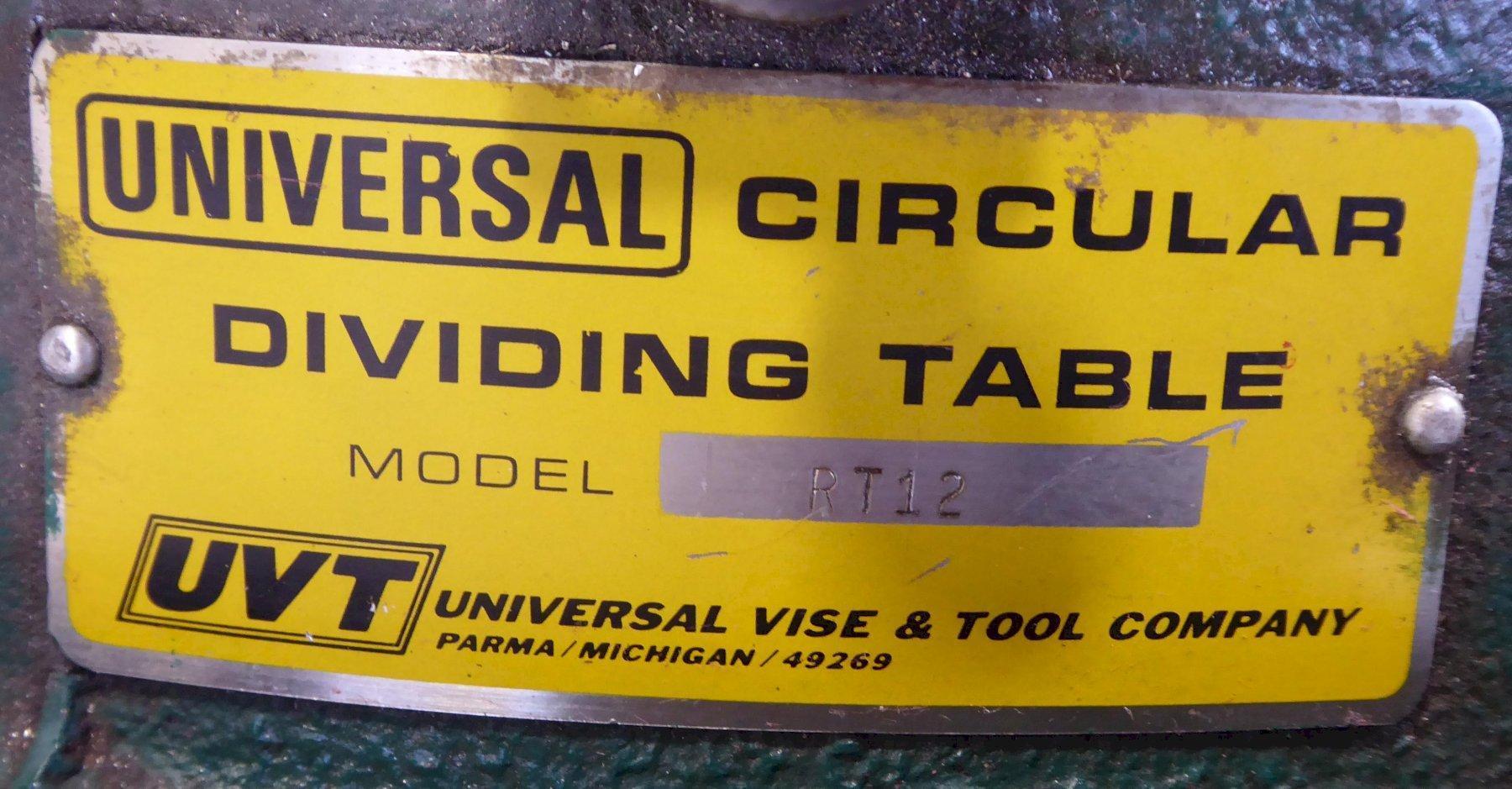 "12"" UVT (Troyke Type) Horizontal/Vertical Rotary Table, Nice"