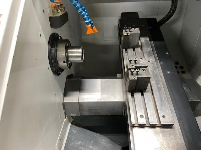 "Cubic PLG-42L Gang Style CNC Lathe, Fanuc 0i, 6"" Turn Dia, 1.65"" Bar Cap, 6K Spindle, Extended X-Axis, Collets Chuck, BF Interface, Holders, Manual Guide 0i, 2015"