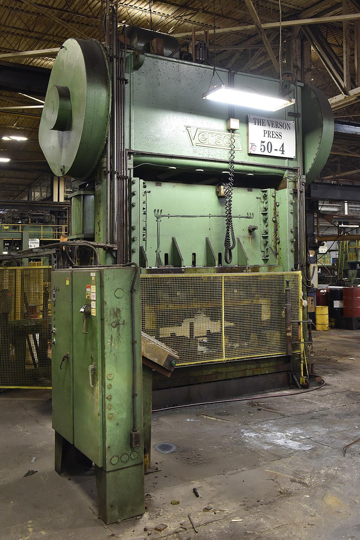 800 TON VERSON SSDC PRESS: STOCK #68749