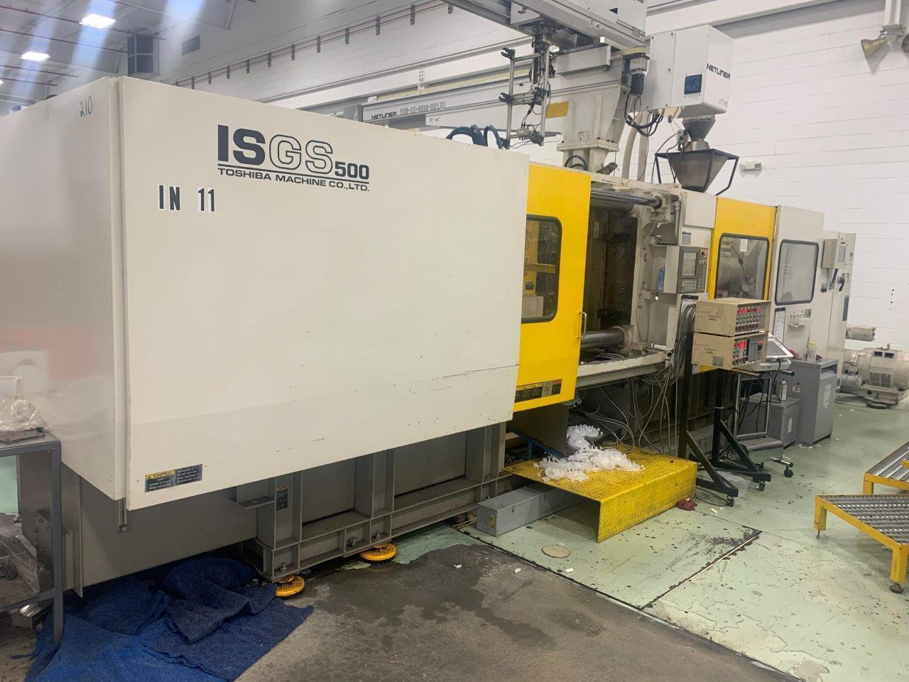 Toshiba Used ISGS500WV21-34AT Injection Molding Machine, 61 oz, yr 2007