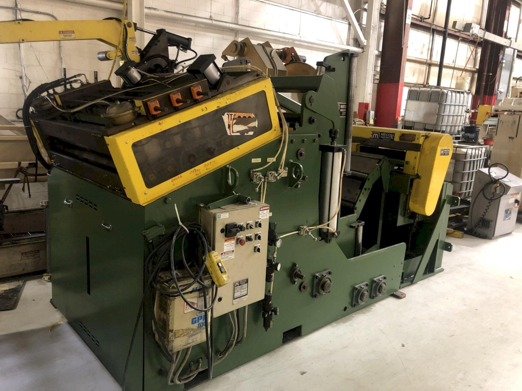 20,000 lbs Mecon Cradle Straightener Servo Feed Line