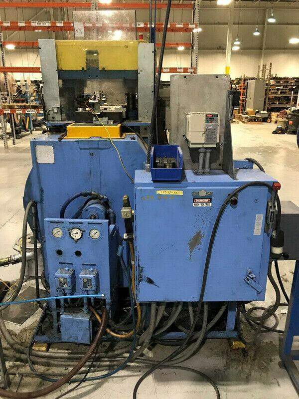 30 TON HENRY & WRIGHT MODEL 30 4 POST HIGH SPEED CUT OFF PRESS. STOCK # 0737921