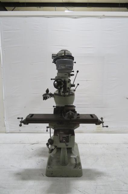"""Bridgeport Used Type-J Head Manual Knee Mill, 42"""", 230V"""