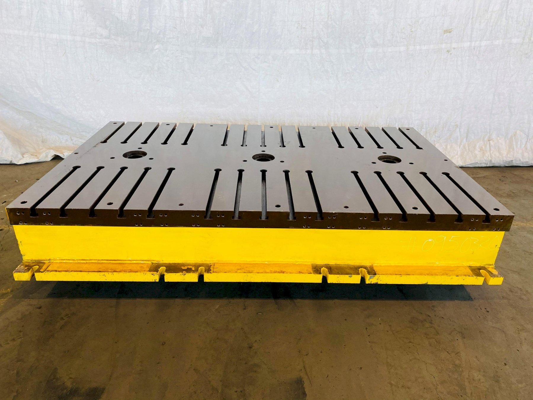 """65"""" X 107"""" X 16"""" T SLOTTED FLOOR PLATE. STOCK # 0950320"""