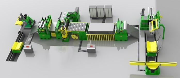 "48"" (1250mm) x .250 (6mm) x 25,000# High Strength Stainless Steel Slitting Line NEW"