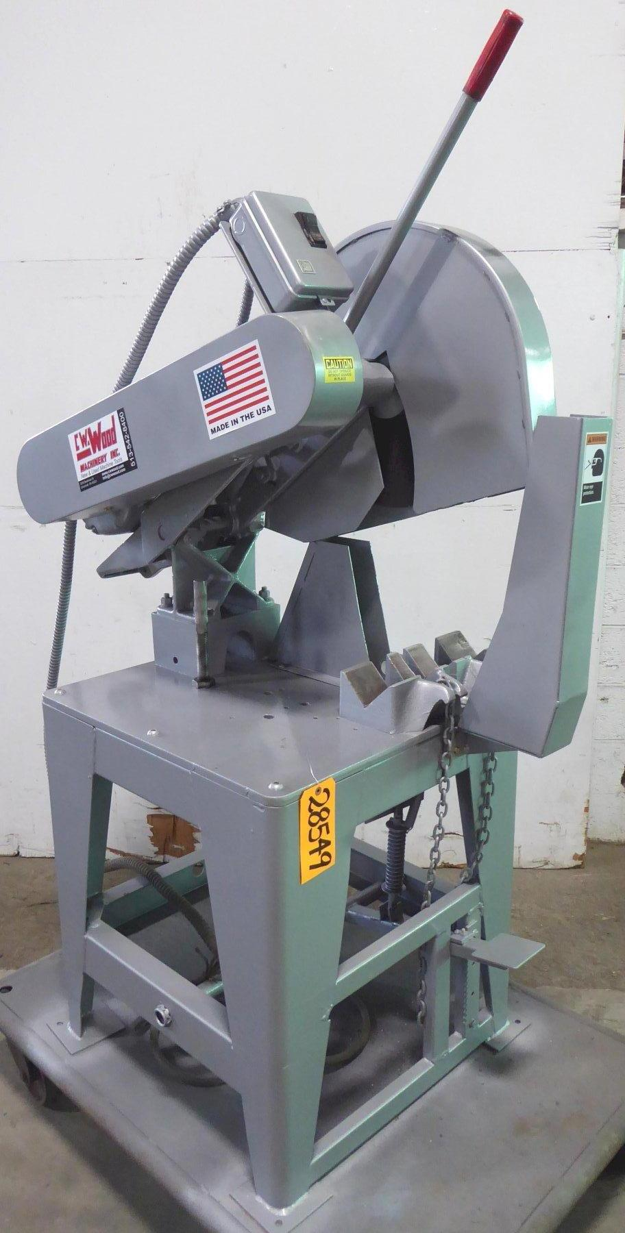 "20″ TOLEDO ""SPEED CUT"" Abrasive Saw, 6″ Shapes, 2-1/2″ Solids Capacity, 10 HP"