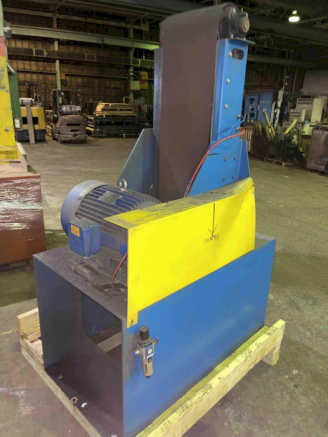 """14"""" vertical belt sander, 20 hp drive and bottom dust collection"""