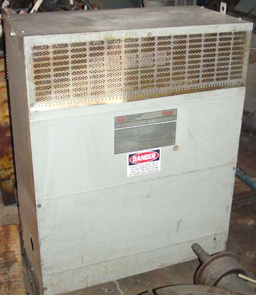 98 KVA FEDERAL PACIFIC 3 PHASE 60 CYCLE TRANSFORMER, Model 36B, Delta to Y Transformer, Voltage 460 Delta to 460/266 Y 117 Amp Output, Multi Tap, Dry Type.