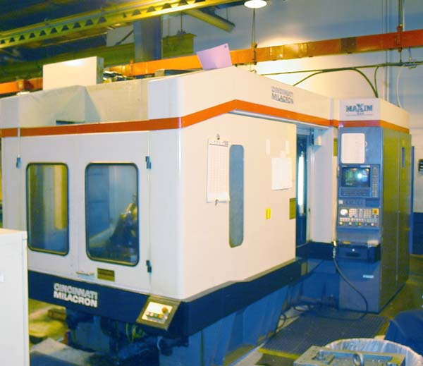 """CINCINNATI MILACRON MAXIM 630 CELL, Acramatic 950 CNC, 6 Machines Total with 48 Pallet Stands, X=40"""", Y=31.5"""", Z=31.5, 25"""" Square Pallets, 33 HP, 7000 RPM, 90 Station Tool Changer, 1995."""