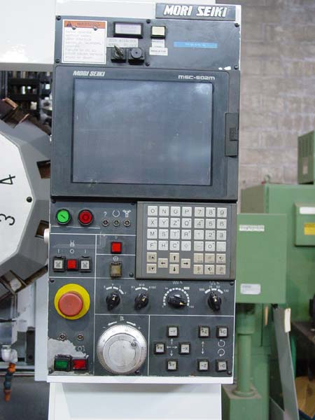 "MORI SEIKI TV-30, Mori Seiki MSC-802 CNC, 23.6"" x 13.4"" Table, X=16.5"", Y=11.8"", Z=9.8"", 5 HP, 10 Station ATC, 8000 RPM, New 1996."