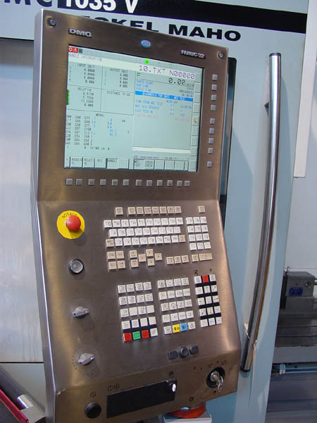 "DECKEL MAHO DMC 1035V, Fanuc 32i CNC Control, X=44.24"", Y=22"",Z=22"", 8,000 RPM, 17 HP, 20 Station Tool Changer, Probes, Rotary Table, New 2005."