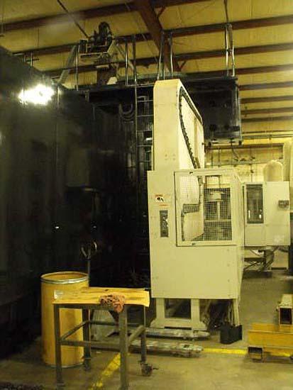 "MAZAK V100 Versatech Mazak Mazatrol M32 CNC, (2) 78"" x 157"" Pallets, X=196"",Y=127"", Z=39"", 50-Taper, 80 Station Tool Changer, Head Changer, New 1996."