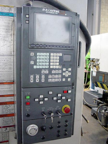 "MAZAK VTC-200/50, Mazatrol Fusion 640 CNC, X=41.3"", Y=20"", Z=23"", Cat-50 Spindle, 24 ATC, New 5/2002."