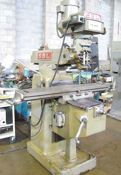 """SOUTH BEND LATHE CO Bridgeport Style Mill, Model 2VH, 9"""" x 49"""" Table, 3 HP Variable Speed, 4200 RPM, 1985."""
