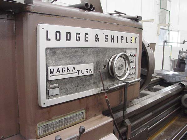 """40-1/2"""" x 276"""" LODGE & SHIPLEY MAGNA TURN, Model MAGNA TURN, 40-1/2' Swing, 35.82"""" Over Cross Slide, 276"""" Centers, 4 Steady Rest, Taper Attachment, New 1965."""