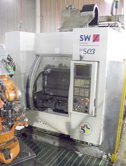 SW Schwabische Werkzeugmaschinen Twin Spindle CNC Vertical Machining