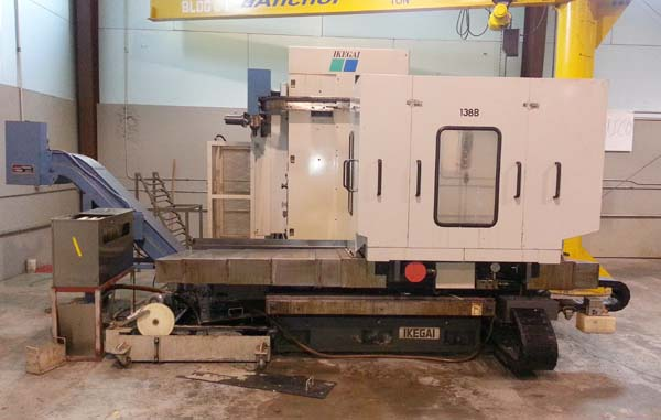 "4"" IKEGAI CNC TABLE TYPE, Model NB11T, Fanuc 16i CNC Control, 41"" x 39"" Full Contouring Rotary Table, X=47"", Y=39"", Z= 13.7"",W=27.5"", 3000 RPM, New 1998."