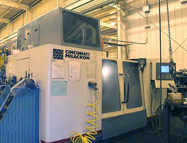 """CINCINNATI LANCER 1250, Siemens Acramatic 2100 CNC Control, X= 50"""", Y=30"""", Z=30"""", Heavy Duty 50 Taper Spindle, 6,000 RPM, 30 Station Tool Changer, 4th Axis Rotary Table, New 1998."""