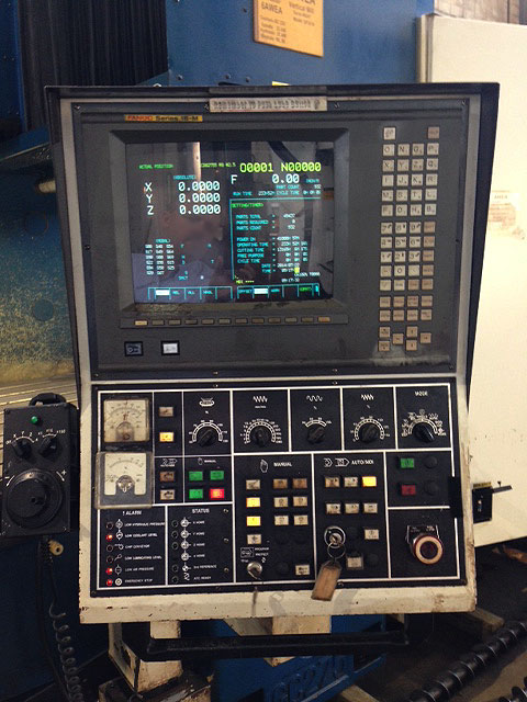 "AWEA SP-3016 Bridge Type, Fanuc 18M CNC Control, X=120.5"",Y=63.3"", Z=30"", 59"" x 120"" Table, 32 Station Tool Changer, Cat-50, 6,000 RPM, New 2000."