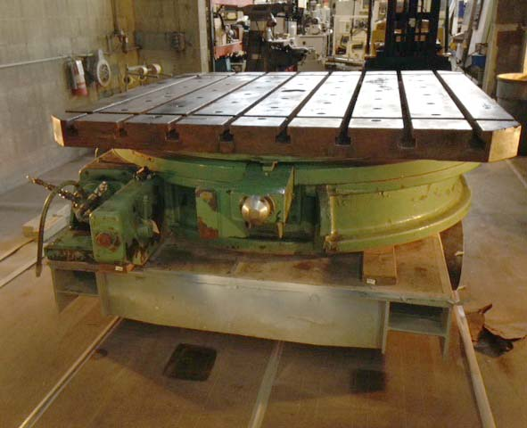 "84"" X 84"" Cincinnati Gilbert Power Rotary Table, 81-1/4"" T-Slots, 25"" High."