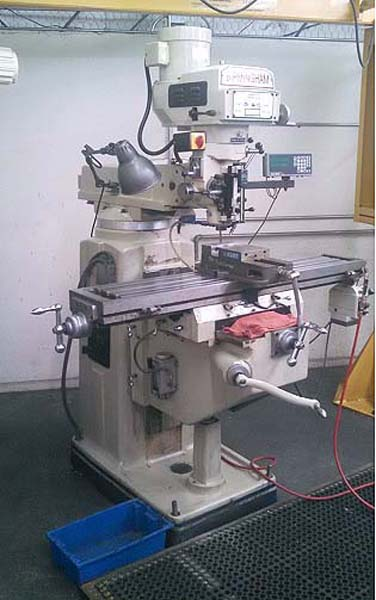 """BIRMINGHAM BVM-1054 Vertical Mill, Model BVM-1054, 10"""" x 54"""" Table, 3 HP Variable Speed, 2-Axis Readouts, Power Table Feed, Power Quill Feed, New 2007."""