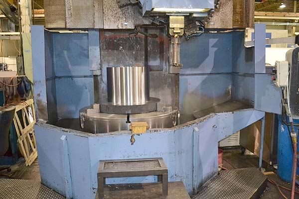 "49"" TOS HULIN CNC VERTICAL BORING MILL, Model SKQ-12NC, Fanuc 0TC CNC Control, 49"" Chuck, 59"" Swing, 44"" Under the Rail, 12 ATC, 50HP, 250 RPM, New 1993."