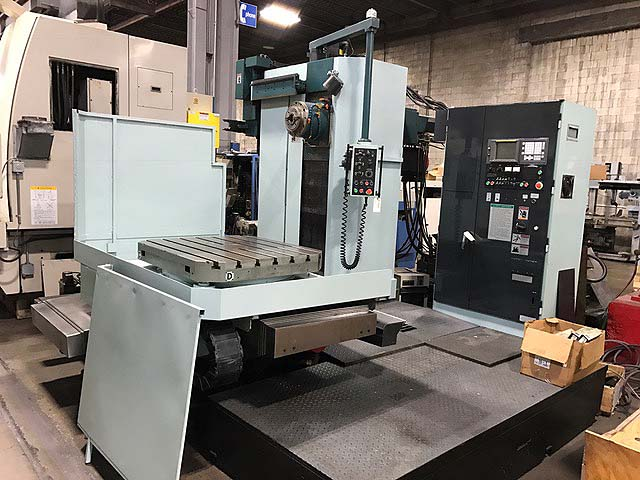 "4.33"" KURAKI CNC TABLE TYPE, Model KBM-11A, Fanuc 16M CNC, 43"" x 37"" Rotary Table, X=59"", Y=39.7"", Z=27.5"" ,W=11.9"", 25 HP, 2000 RPM, New 1998."