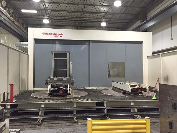 "GIDDINGS & LEWIS HMC-410 4-Axis Mill Turn, Fanuc 160iM CNC Control, X=129"", Y=82.6"", Z=78.7"", (2) 63"" x 49"" Pallets, Full 4th Axis Pallet Rotation, 6000 RPM, 150 Station Tool Changer, Extra Pallets, New 2005."