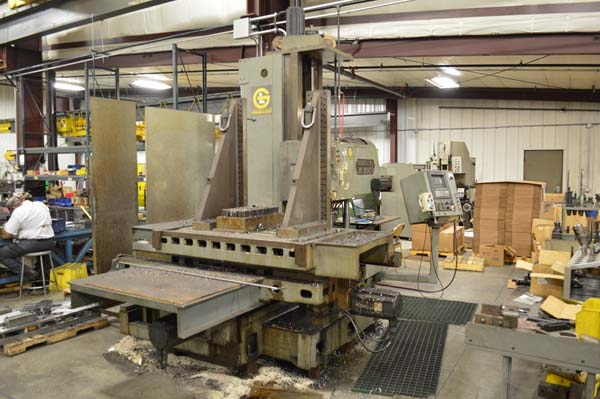 "4"" Giddings & Lewis CNC Table Type Horizontal Boring Mill"
