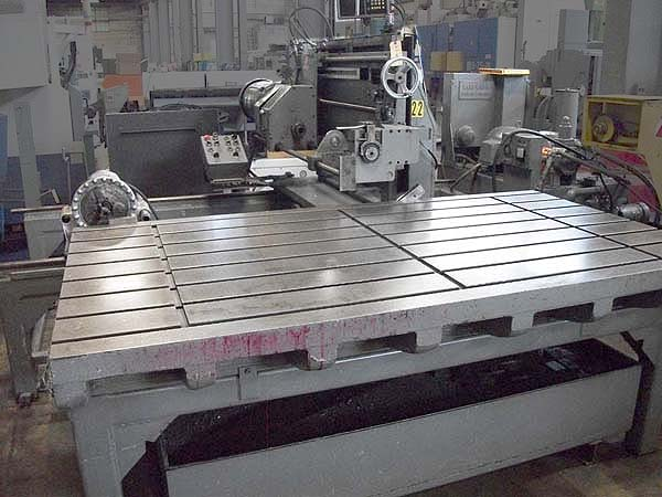"""1"""" x 48"""" WARD & RIDDLE ( Technidrill ) Traveling Column Style Deep Hole Drill, 48"""" x 96"""" T-Slotted Table, 96"""" Column Travel, 48"""" Drill Stroke, Ballscrew Infeed, High Pressure Coolant System. New 1970"""