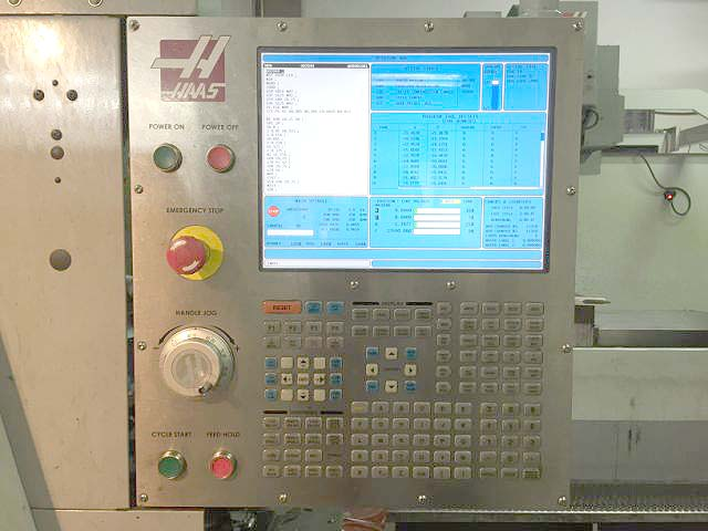 """HAAS TL-25, Haas CNC Control, Live Tooling, Sub-Spindle, 30"""" Swing over Bed, 14.5"""" Swing Over Cross Slide, 3"""" Bar Capacity, New 2009."""