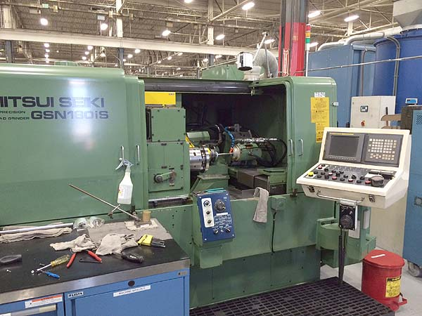 """MITSUI SEIKI, Model GSN-180iS, Fanuc 15iM CNC Control, Full C-Axis, 18"""" Swing Over Table, 7"""" Max Grinding Length, 15,000 RPM, 17"""" Stroke, New 2001."""