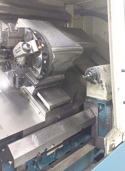 """ROMI G30M, Fanuc 21i-T CNC, 22"""" Swing, 12"""" Chuck, tailstock w/ 40"""" Centers, Live Tooling, New 2007."""