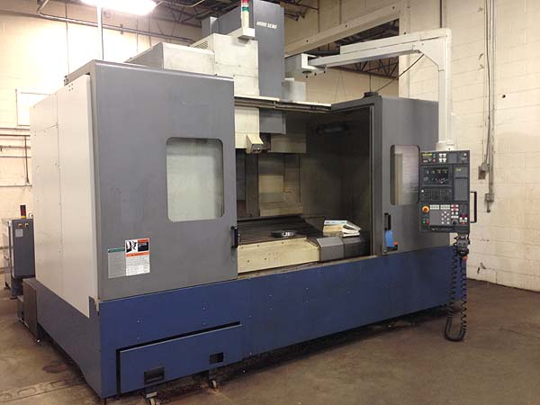 "MORI SEIKI MV-653, MSC-501 Fanuc 18iM CNC, 67"" x 26"" Table, X=60"", Y=27"", Z=27"", 50-Taper, 6000 RPM, 30 Station Tool Changer, 4th Axis Rotary Table, New 2000."