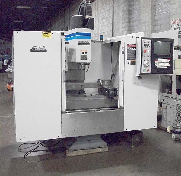 "FADAL VMC3016, Fadal HS88 CNC Control, 38"" x 16"" Table, X=30"",Y=16"",Z=20"", 10000 rpm, 21 Station Tool Changer, 4th Axis Rotary, New 1998."
