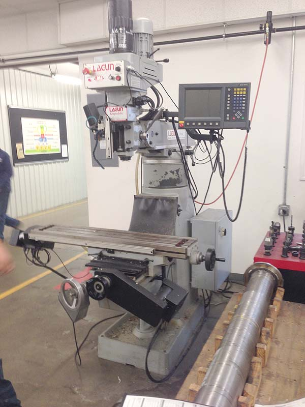 """Lagun FTV-2, Acurite MillPWR 2-Axis CNC Control, 3-Axis Read-outs, X=35"""", Y=15"""", Z=5"""", Knee=22"""", 4250 rpm, New 2007."""