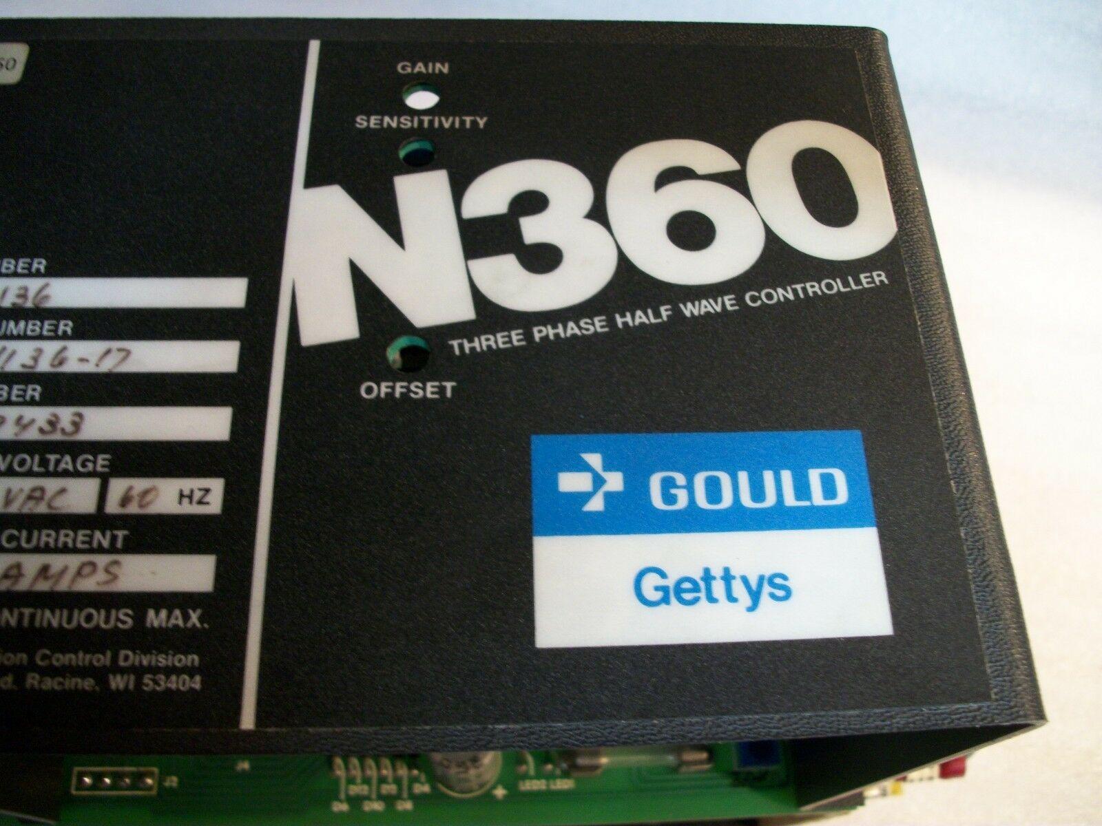 Gould Gettys N360 Axis Drive Type N136, Version 66-1136-17 24 amp