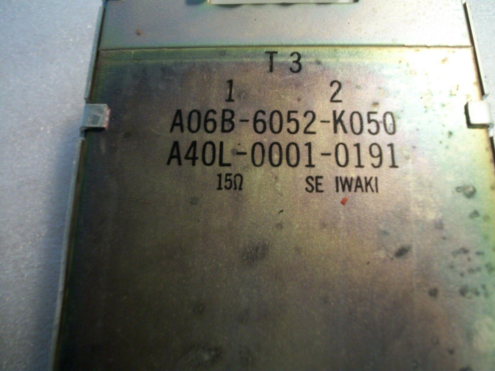 Fanuc 15 OHM Resistor A06B-6052-K050