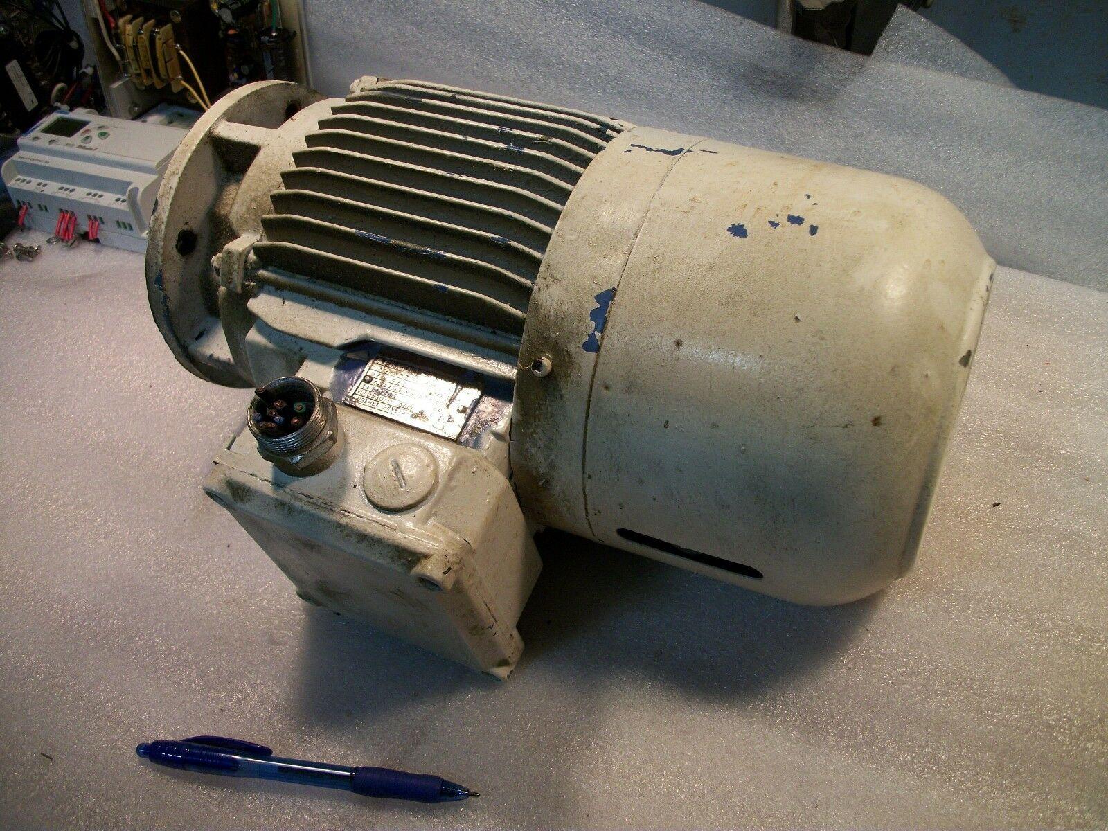 AEG AM3x90 460 Volt 2-Speed Motor 166 RPM & 360 RPM .75 KW 1HP