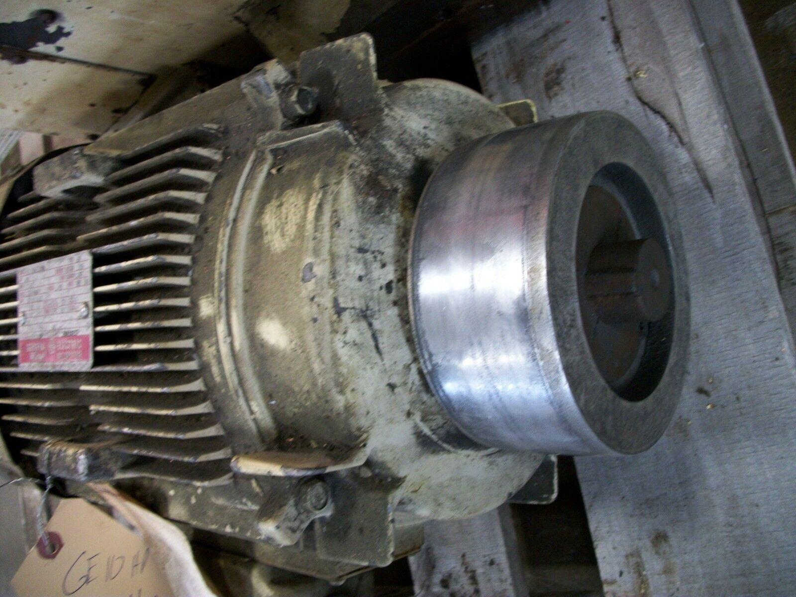 10 HP GE AC Motor 5K215BL205A 1745 RPM 230/460 V 3 Phase