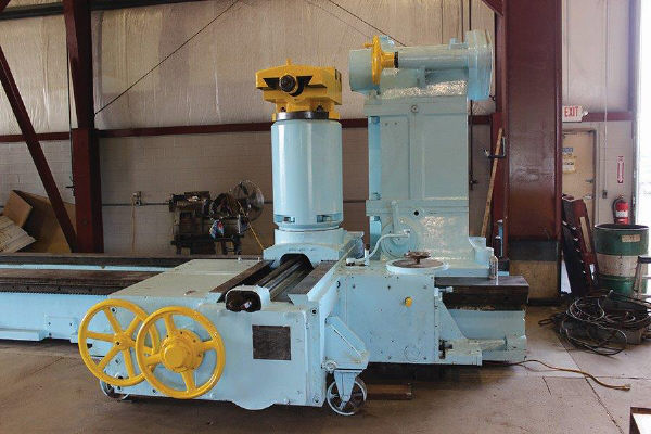 """144"""" x 648"""" MESTA Big Heavy Duty Lathe, Model 6, 144' Swing over Bed, 118"""" Over Cross Slide, 648"""" Centers, 70"""" 4-Jaw Face Plate, Threading, Taper, 75 HP, Updated Electrics, New 1960s."""