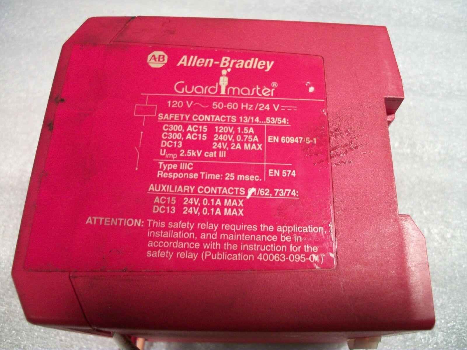 Allen Bradley Guardmaster Safety Relay 440R-ZBR520AZ1