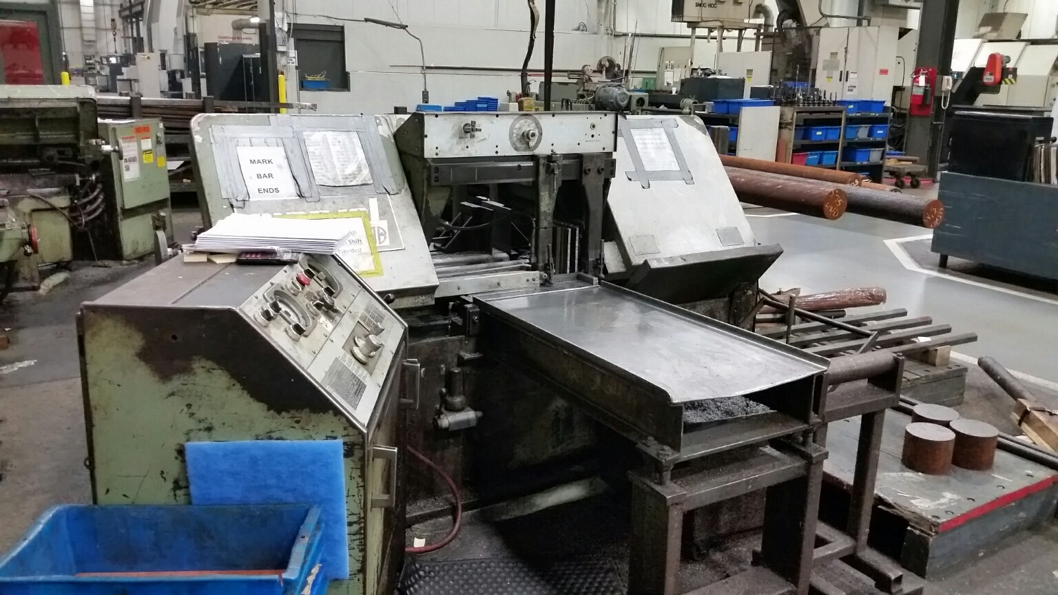 """15"""" X 20"""" MARVEL AUTOMATIC HORIZONTAL BAND SAW, Model 15A, Auto Stock Feed, Auto Down Feed, 5 HP, 1-1/4"""" Wide Blade, Coolant, Variable Blade Speed. New 1981. (2 avail)"""