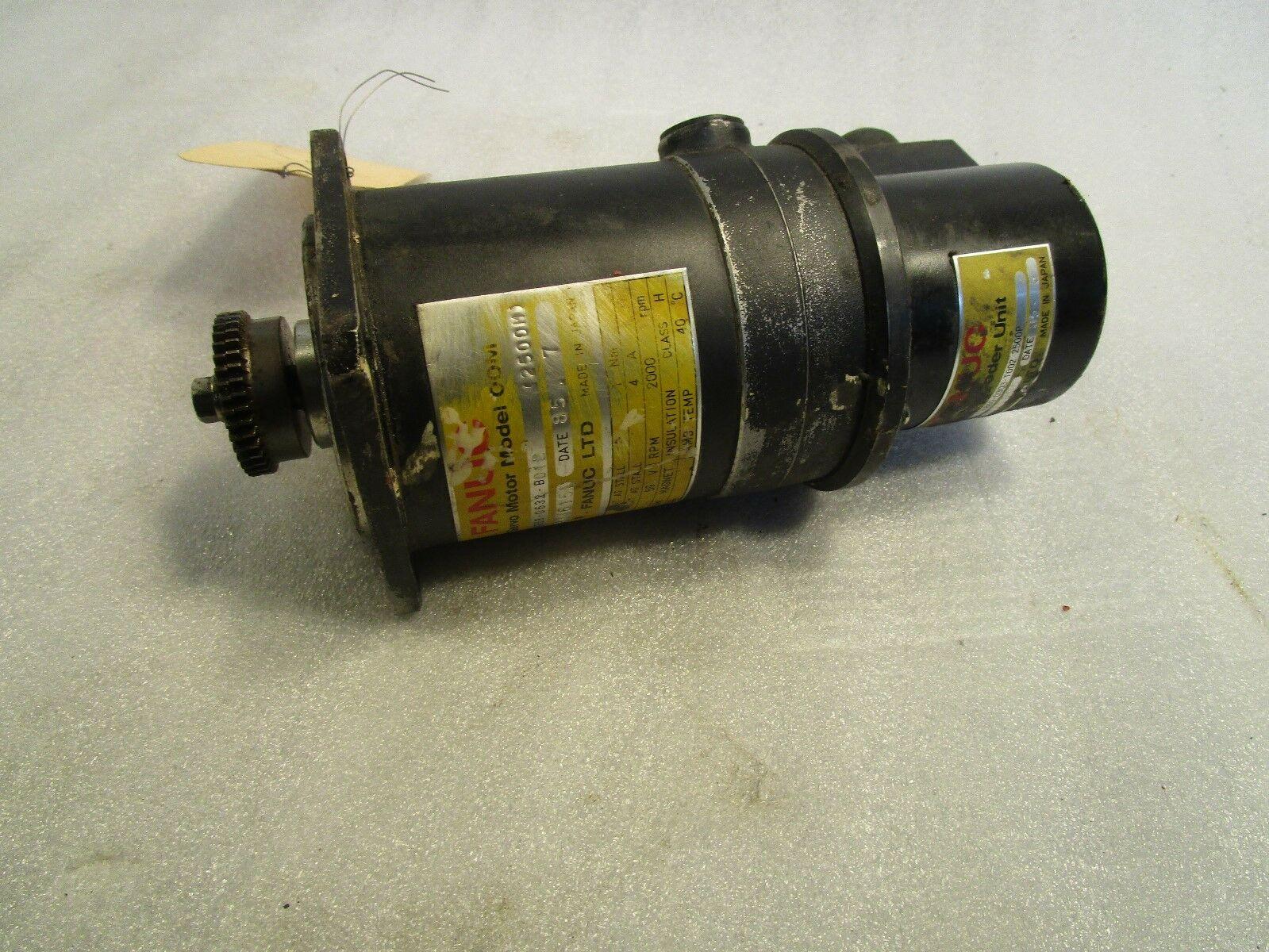 Fanuc DC Servo Motor A06B-0632-B-12 with A860-0303-T002-2500P encoder Miyano