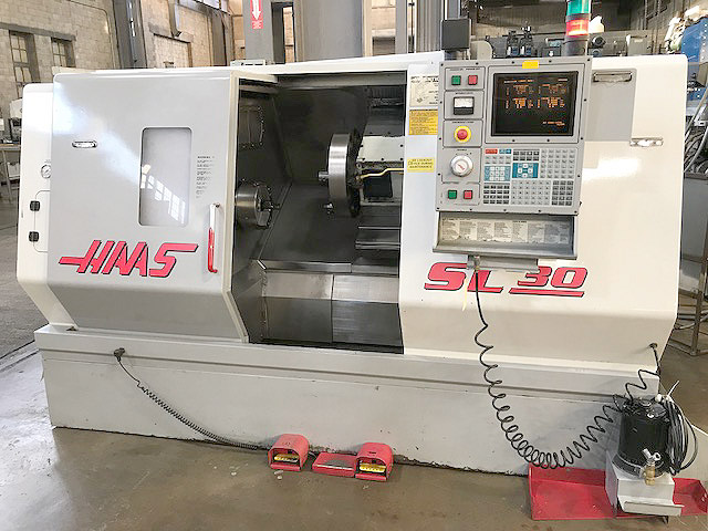 """HAAS SL-30T, Haas CNC Control, 30"""" Swing, 10"""" Chuck, 34"""" Between Centers, 12 position Turret, New2000."""