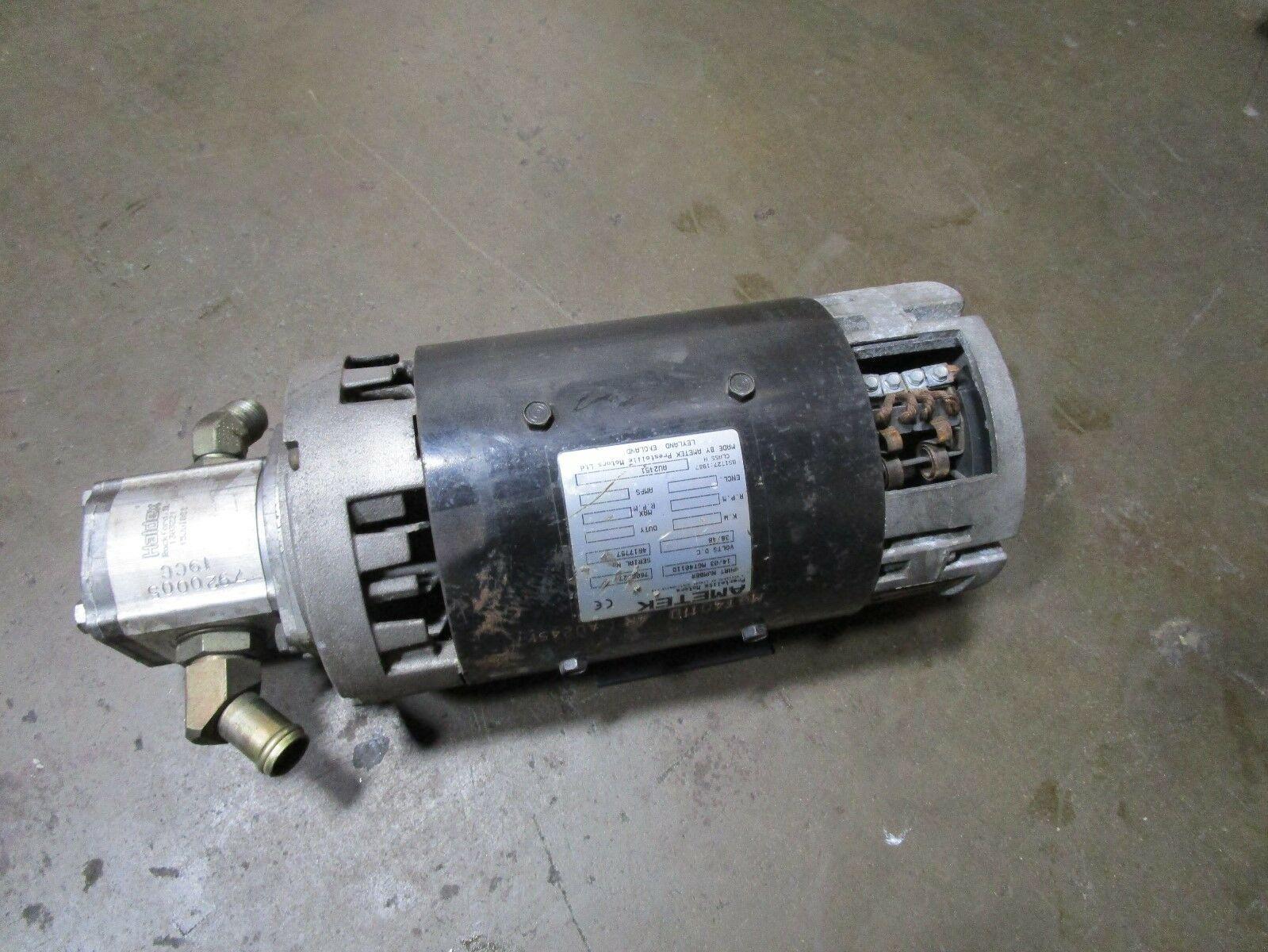 Toyota Fork Lift Hydraulic Motor and Pump Ametek Prestolite MGT4011D