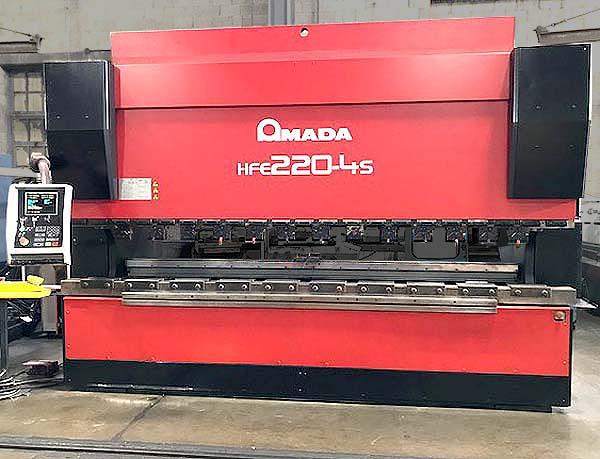 "220 TON x 14' AMADA PRESS BRAKE, Model HFE220-4S, 6-Axis CNC Backgauge, 168"" OA Bed Length, 148"" Between Housings, Full CNC, New 2003."