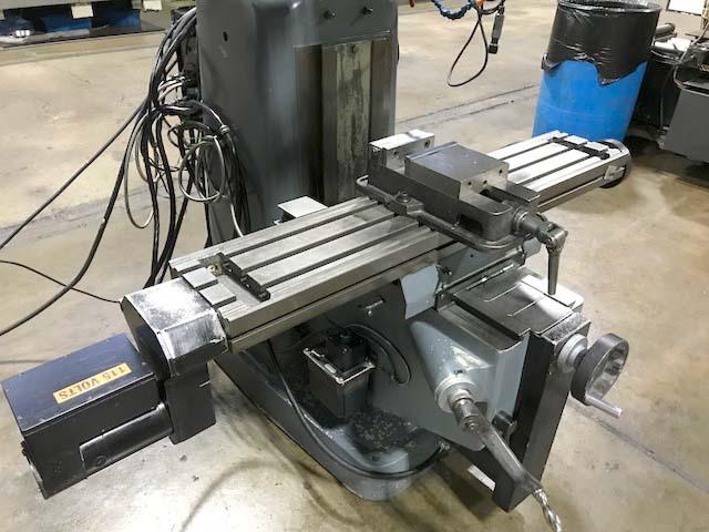 "CLAUSING KONDIA BRIDGEPORT STYLE CNC MILLING MACHINE, Southwest Industries SWI MX-3 Proto Trak CNC Control, 9"" x 48"" Table, 2 HP Variable Speed Head, 4000 rpm, Full 3-Axis CNC, Vise, New 1996/2011."