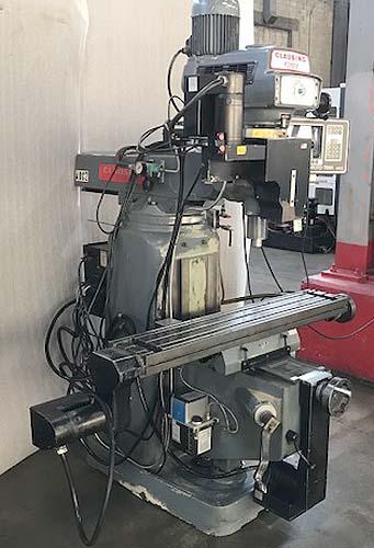"CLAUSING KONDIA BRIDGEPORT STYLE CNC MILLING MACHINE, Southwest Industries SWI MX-3 Proto Trak CNC Control, 9"" x 48"" Table, 2 HP Variable Speed Head, 4000 rpm, Full 3-Axis CNC, New 1996/2010."