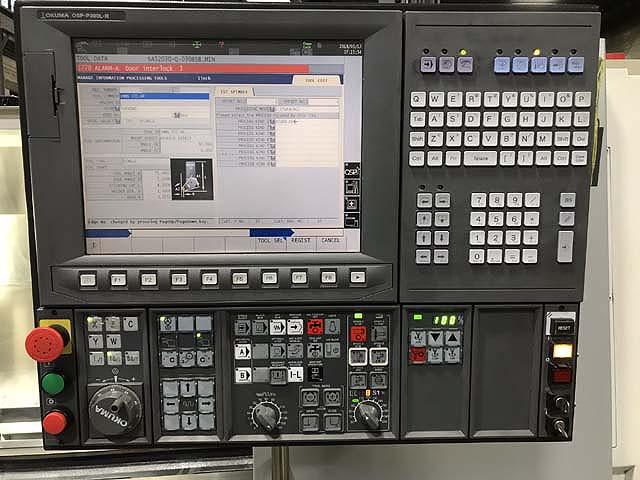 """OKUMA GENOS L300E-M, OSP P300L-R CNC Control, 20"""" Swing, 10"""" Chuck, 40"""" Between Centers, Live Tooling, New 2014."""